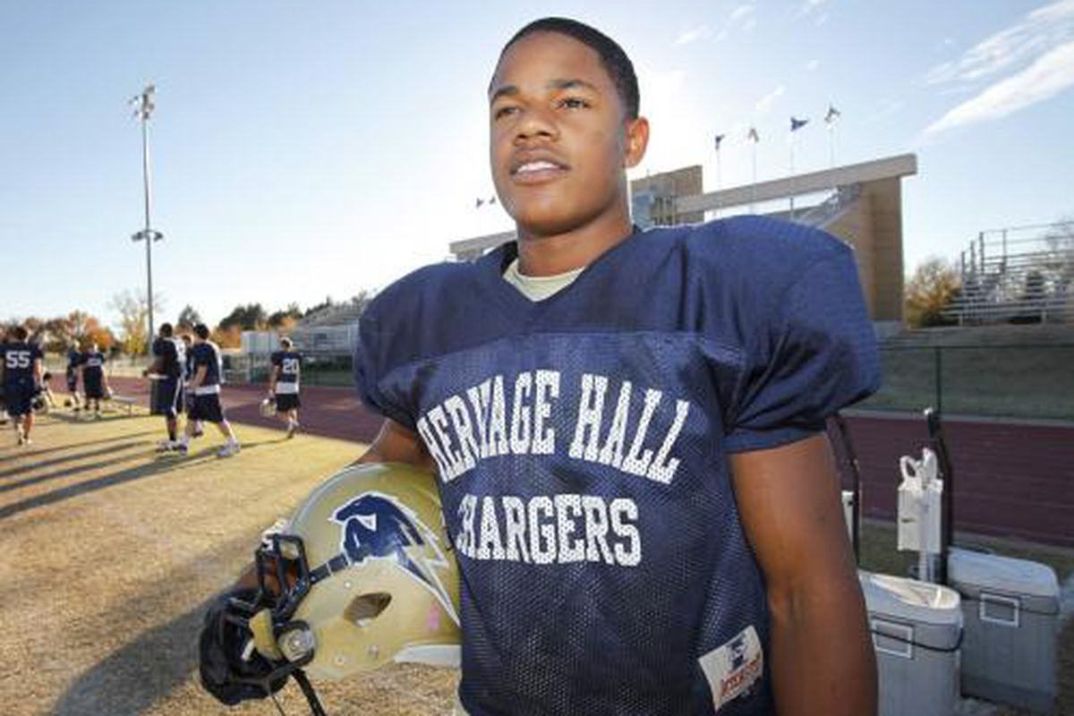 The third member of the OU class of 2012, Heritage Hall's Sterling Shepard.