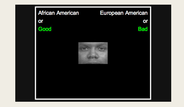 An image from an implicit bias test at Project Implicit