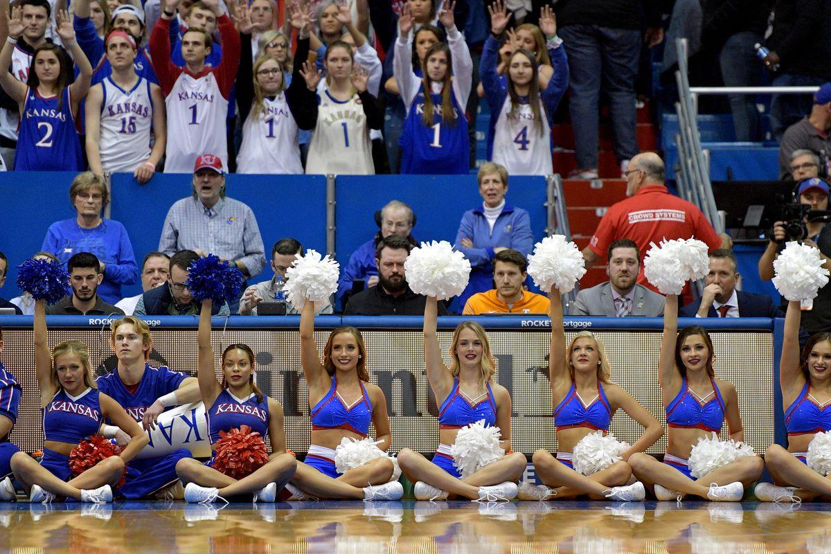 NCAA Basketball: Tennessee at Kansas