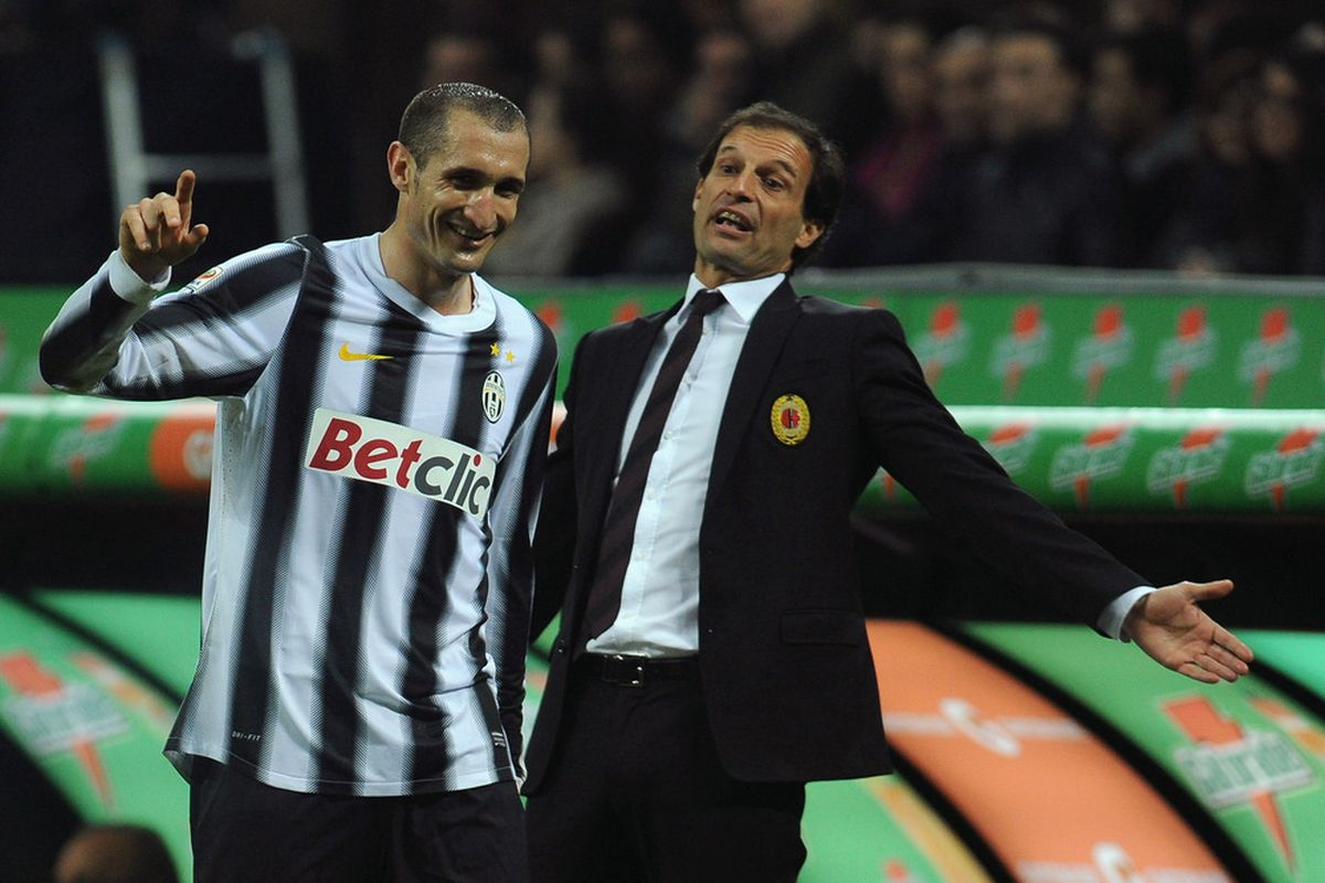 """Allegri's all like """"Yo, can we get some more penalty calls?"""" and Chiellini's all like """"SORRY BOUT THAT.""""  Or something."""