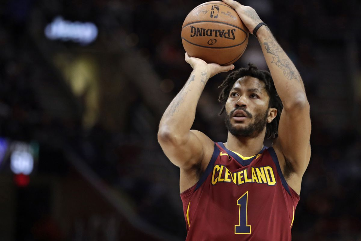 c3de25e8ed42 Video appears to show Derrick Rose shooting basketball at Cleveland ...