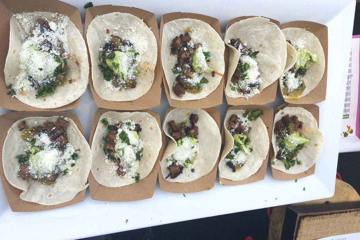 Jason Dady's tacos from Austin Food & Wine Festival 2018