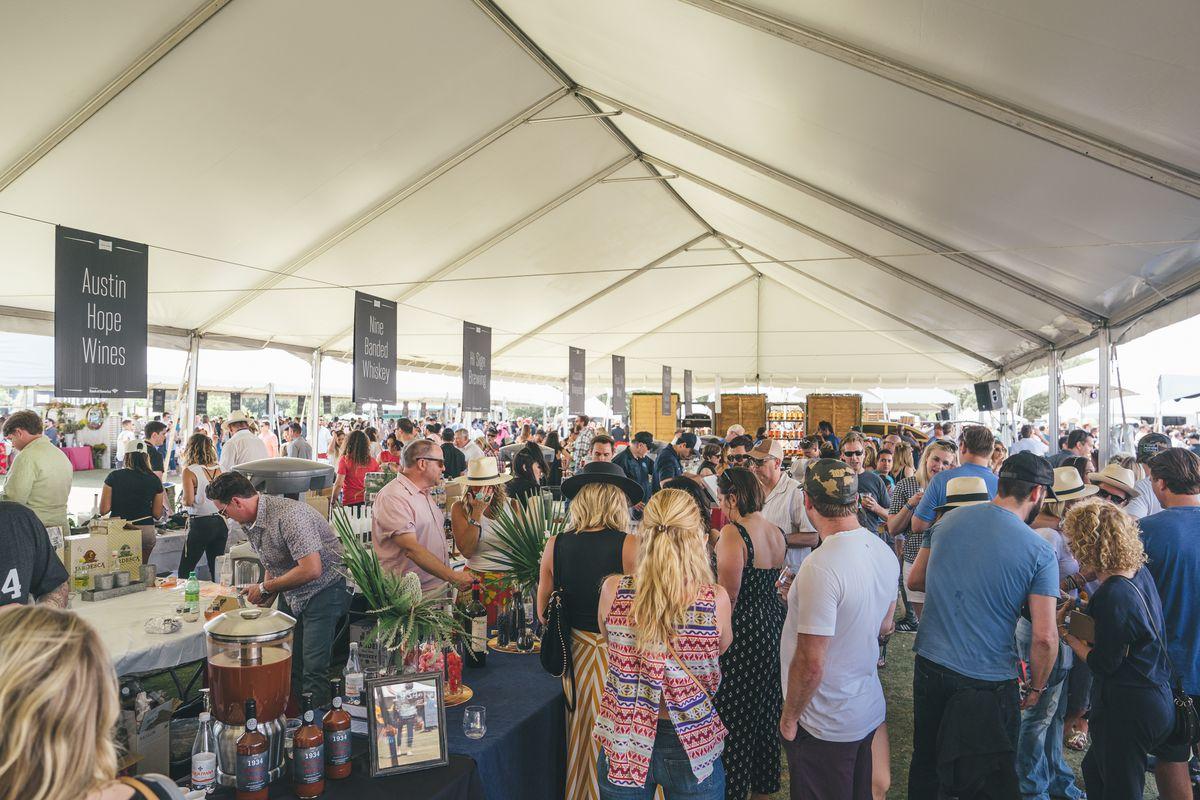 The Grand Taste tent at Austin Food & Wine Festival 2018