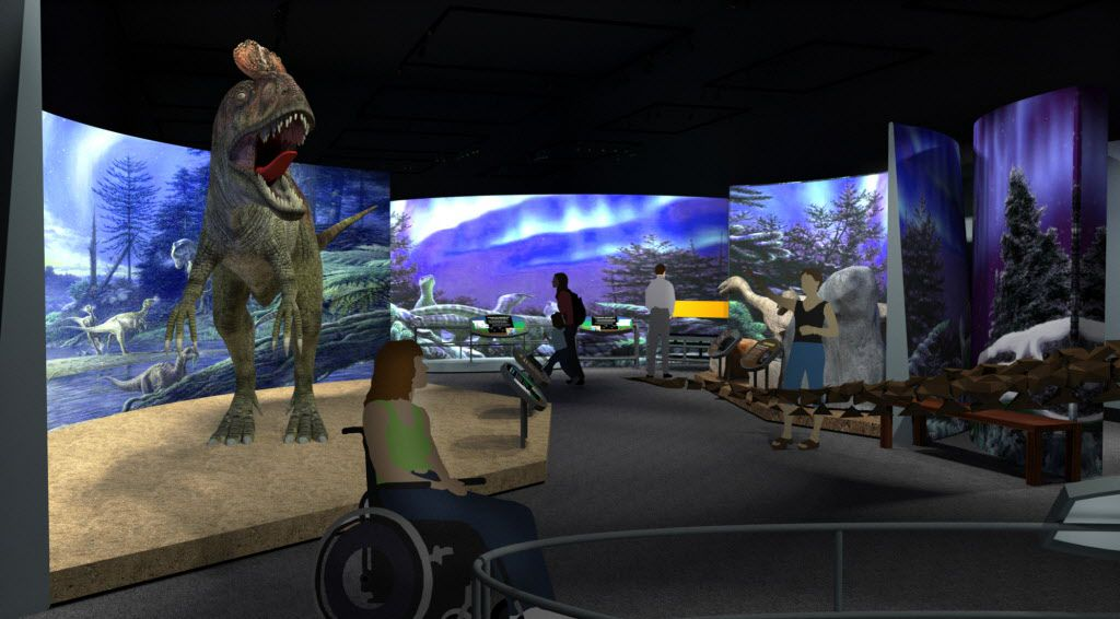 A mock-up of what one of the exhibits might look like in the Field Museum's upcoming exhibition.