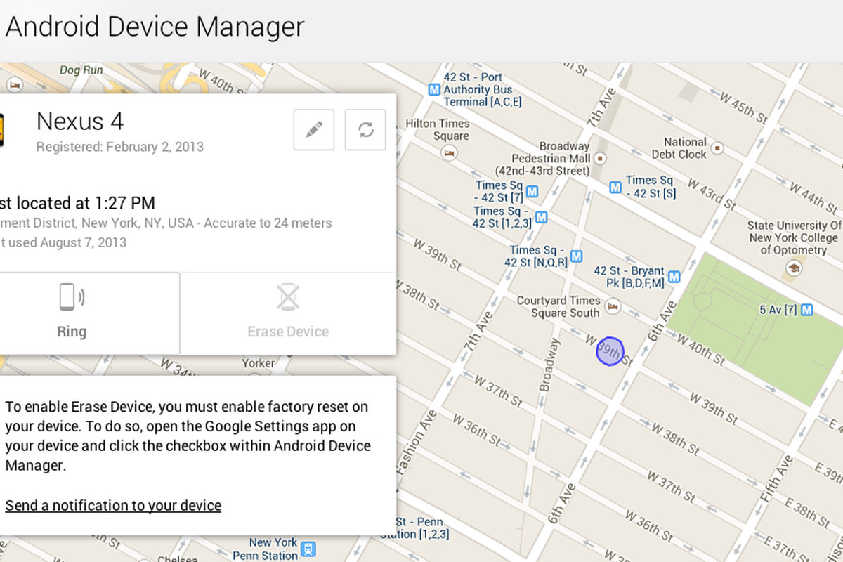 Google Begins Rollout Of Android Device Manager To Help Track Your
