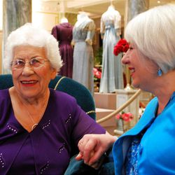 Returning to the Joseph Smith Memorial Building brings back a host of wonderful memories for Giovanna Fortunata Furano Milner, left, and her daughter Joanne Milner. Their father and grandfather, Tony Furano, was a gifted Hotel Utah chef most of his life.
