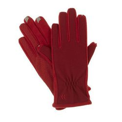 """<b>Isotoner Smartouch Tech Gloves</b> in really red, <a href=""""http://www.kohls.com/product/prd-1057666/isotoner-smartouch-tech-gloves.jsp#"""">$26.40</a> at Kohl's"""