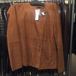 Suede jacket, $399