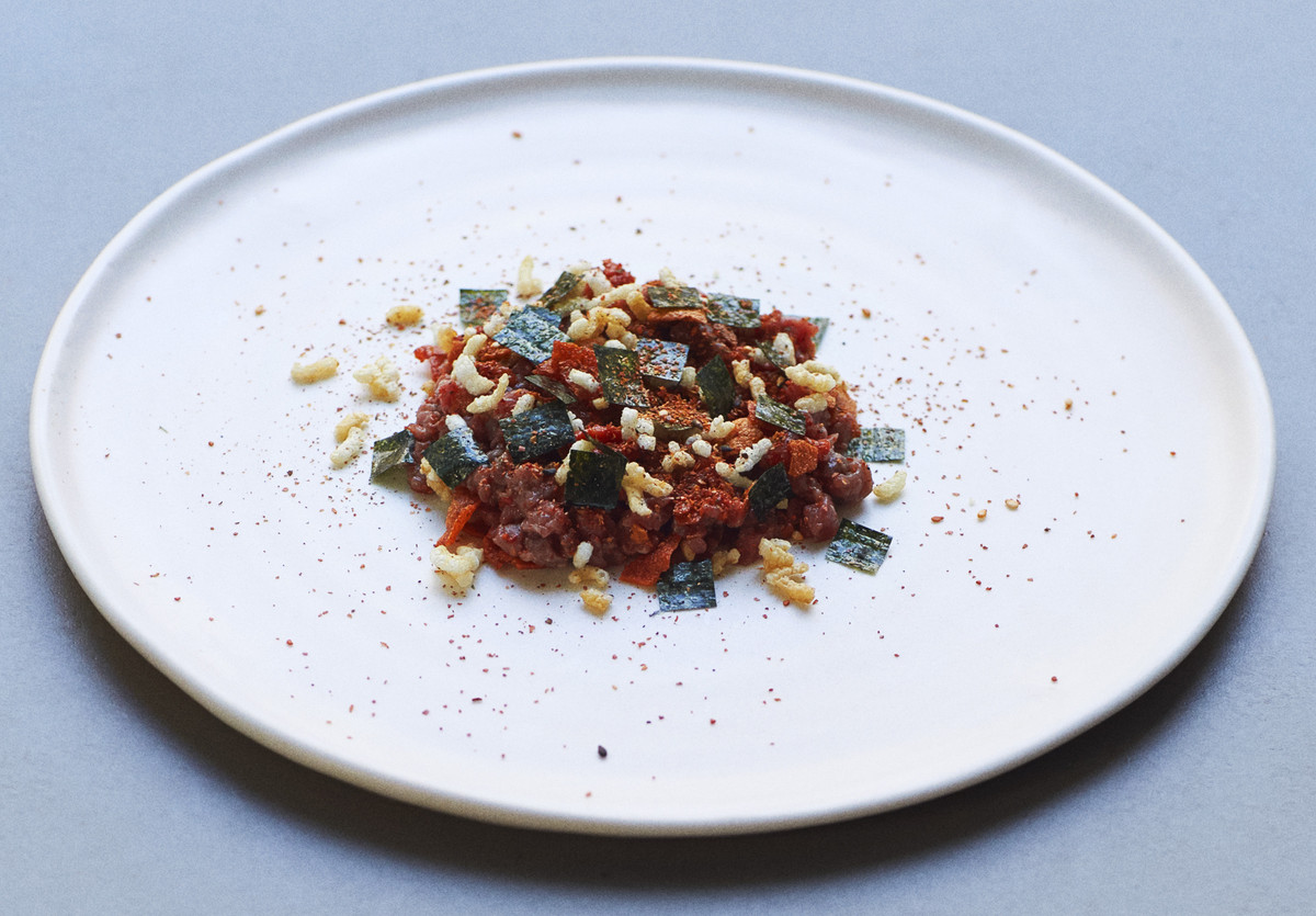 Modern American Cuisine: Chef Chase Lovecky's Hereford beef tartare and togarashi at Two Lights