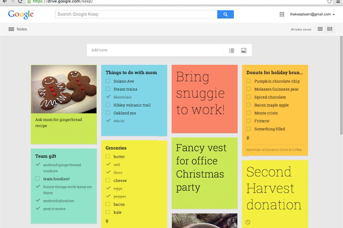 google keep web