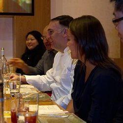 José Andrés talks with guests at China Poblano.