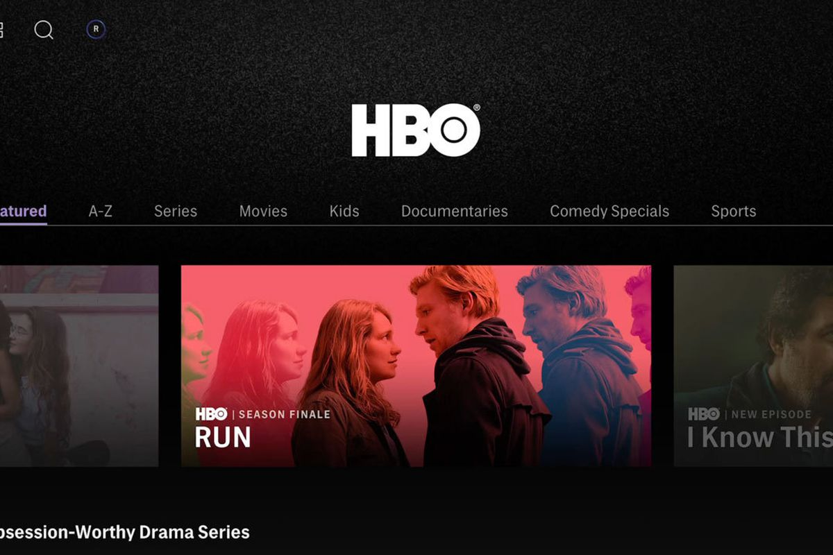 The HBO Max streaming service.