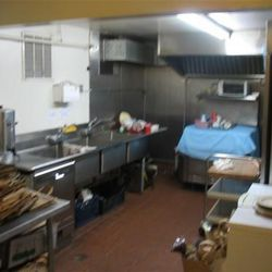 The current kitchen.
