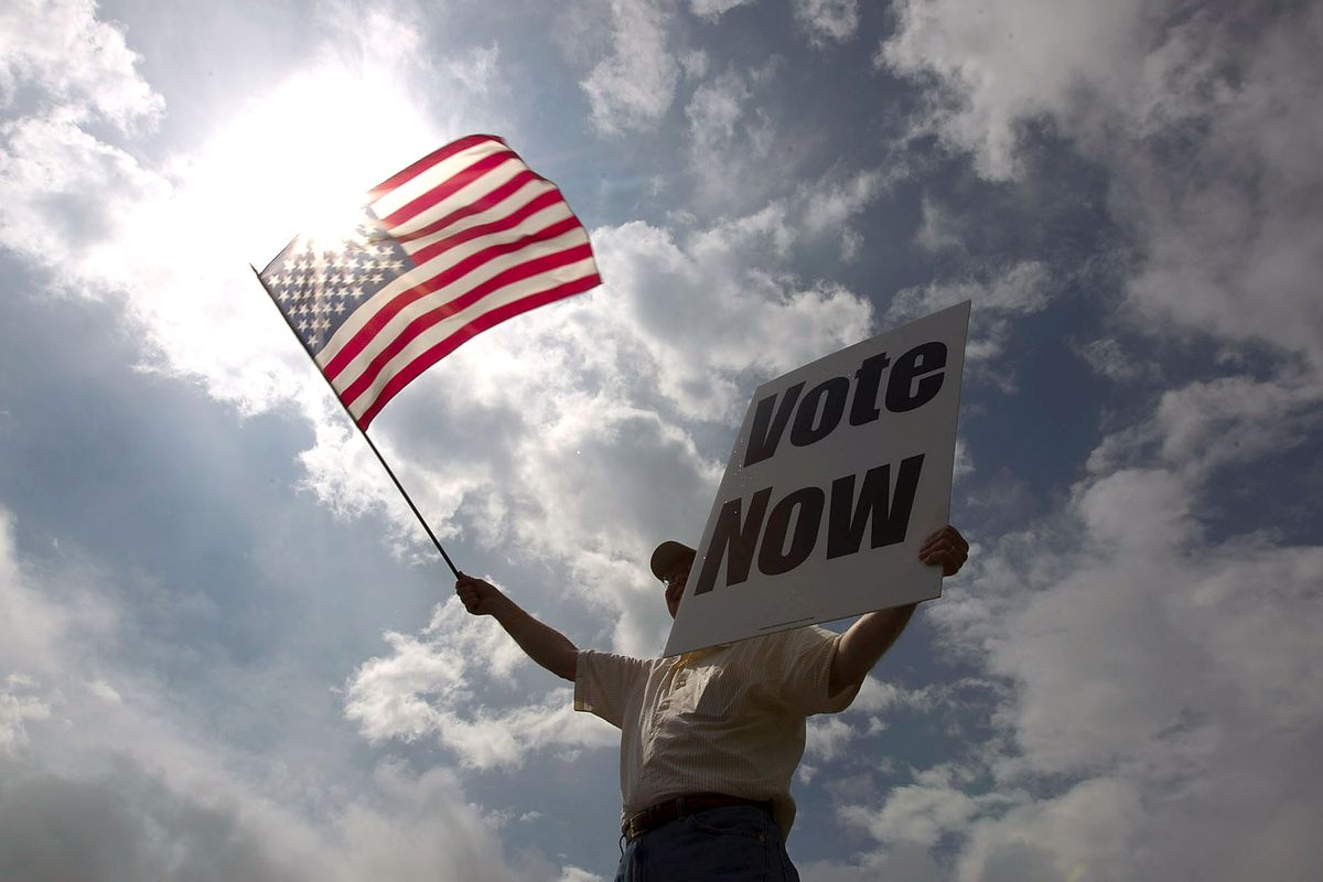 A voter on Alabama's primary day in 2012.