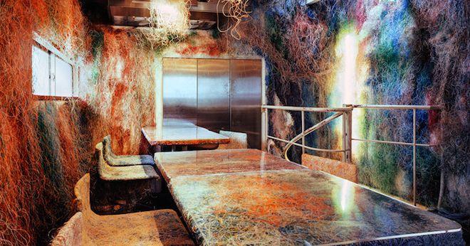 Kengo Kuma Turns Ethernet Cables Into Wild Restaurant