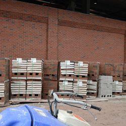 11:34 a.m. Bricks stacked on Sheffield -
