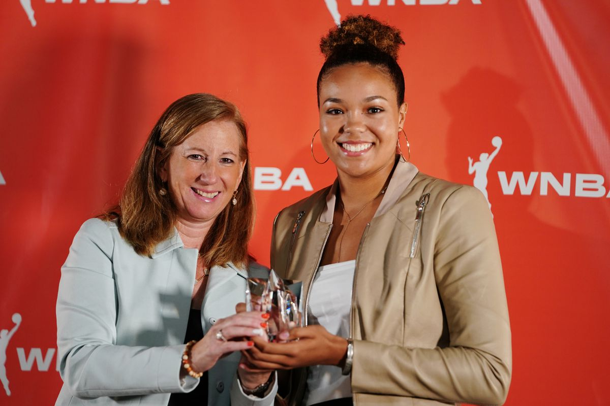 the 2019 WNBA Rookie of the Year is the Lynx's Napheesa Collier