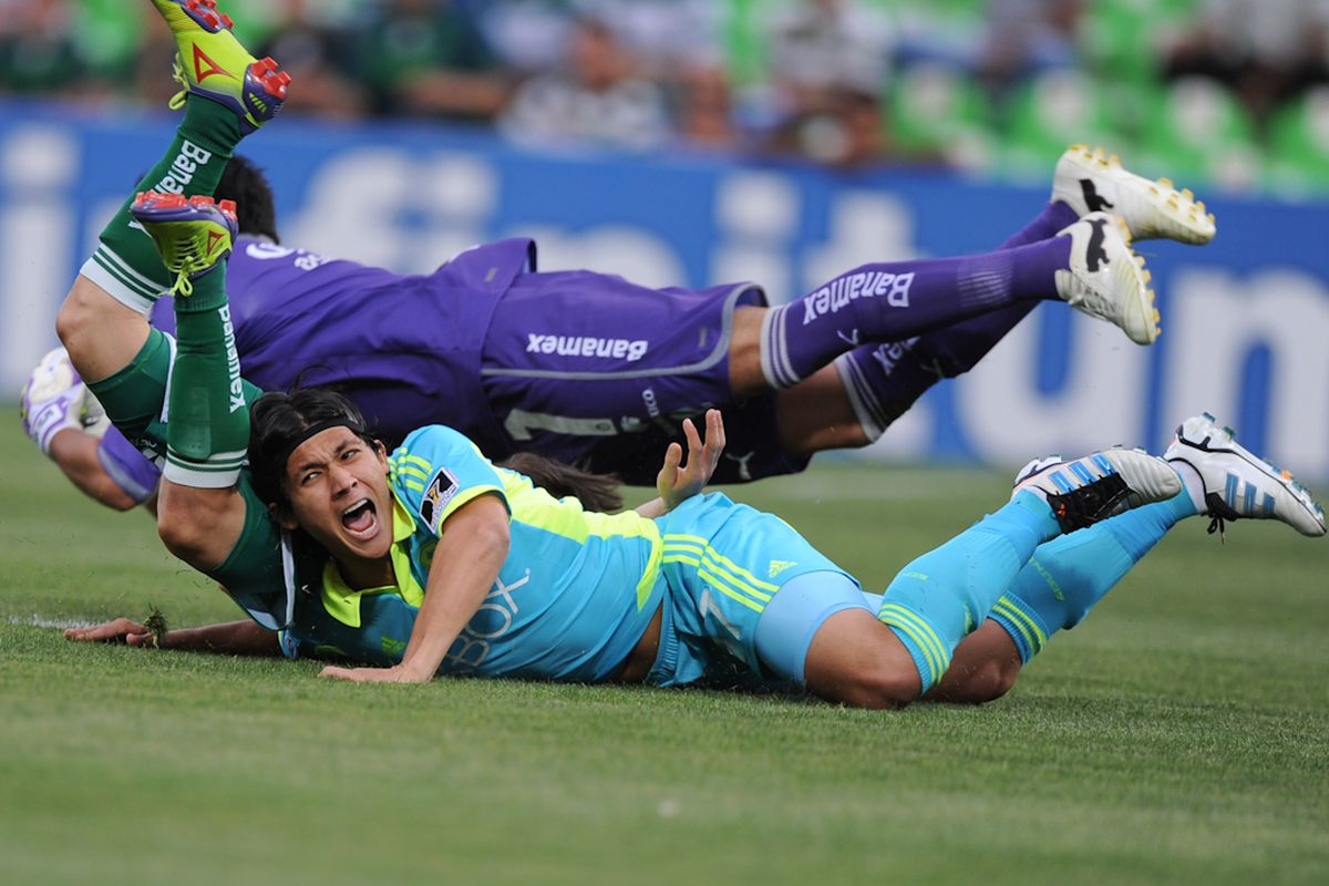 """Fredy Montero did not have a very good game. (Photo by Chris Coulter/<a href=""""http://soundersphotos.com/"""" target=""""new"""">SoundersPhotos.com</a>)"""
