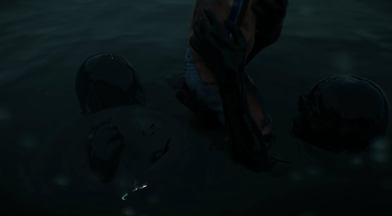 kojima floating in death stranding trailer maybe?