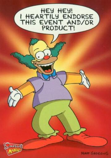 Krusty The Clown Endorsement