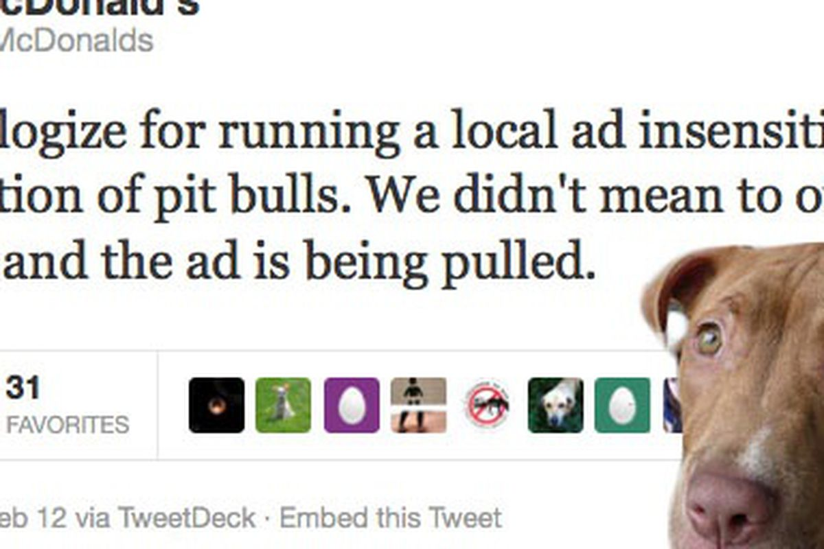 No pit bulls were harmed in the photoshopping of this image.