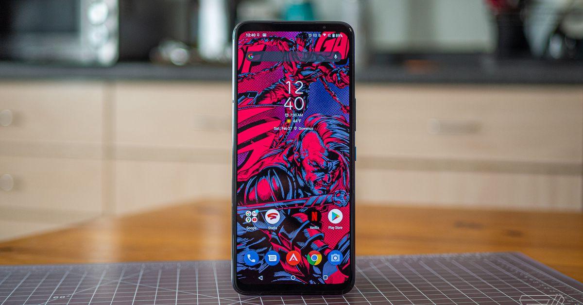 Asus' ROG Phone 5 Ultimate has 18GB of RAM and a rear-facing OLED screen