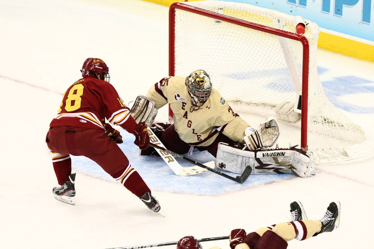 Ferris State and Boston College faced off in the 2012 National Title game.  Could they meet again in Philadelphia?