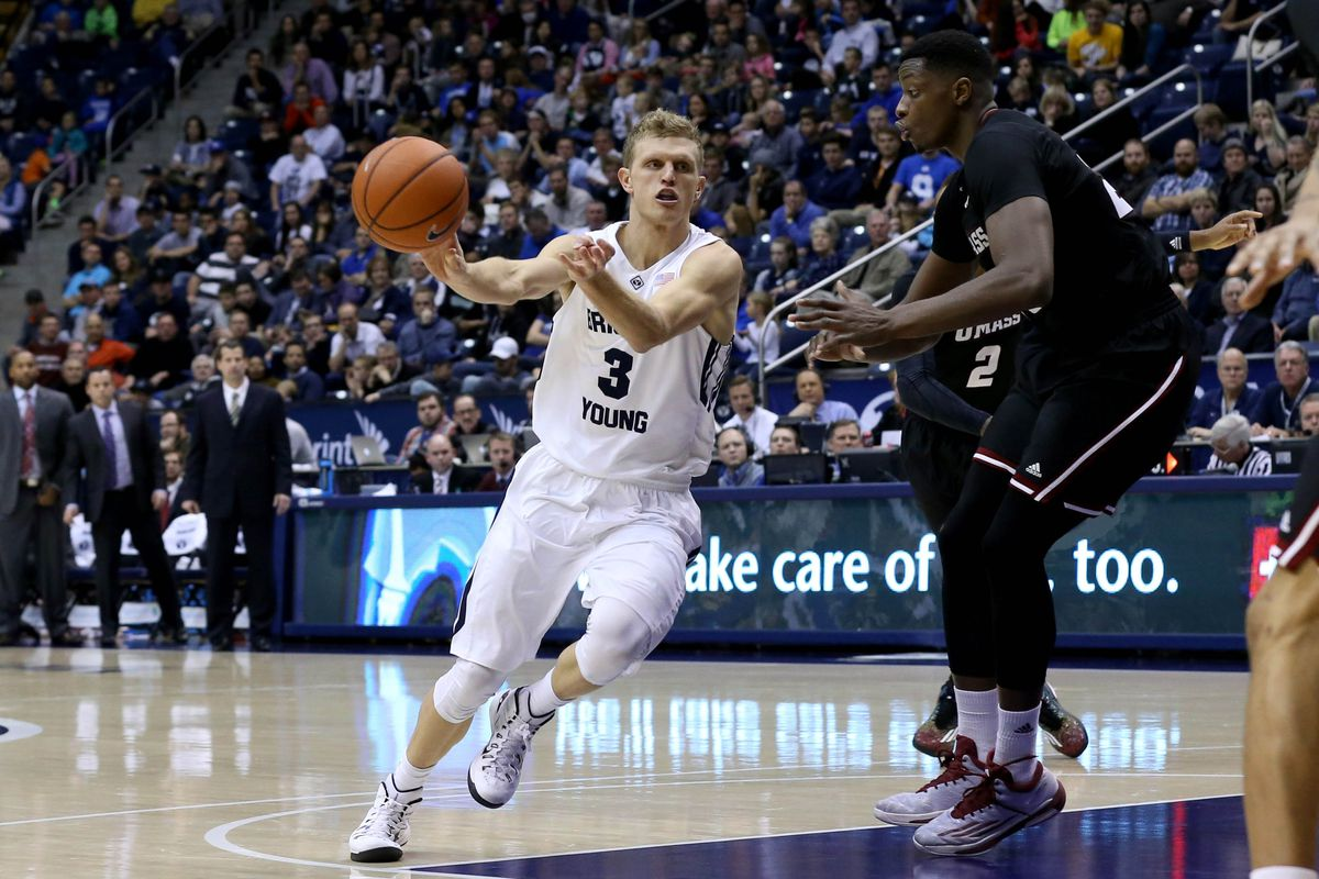 Haws drives on a Cougars offensive possession.