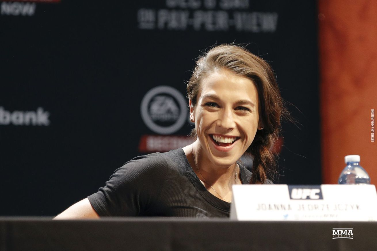 Joanna Jedrzejczyk (pictured) fights Valentina Shevchenko for the vacant women's flyweight title at UFC 231 on Saturday in Toronto