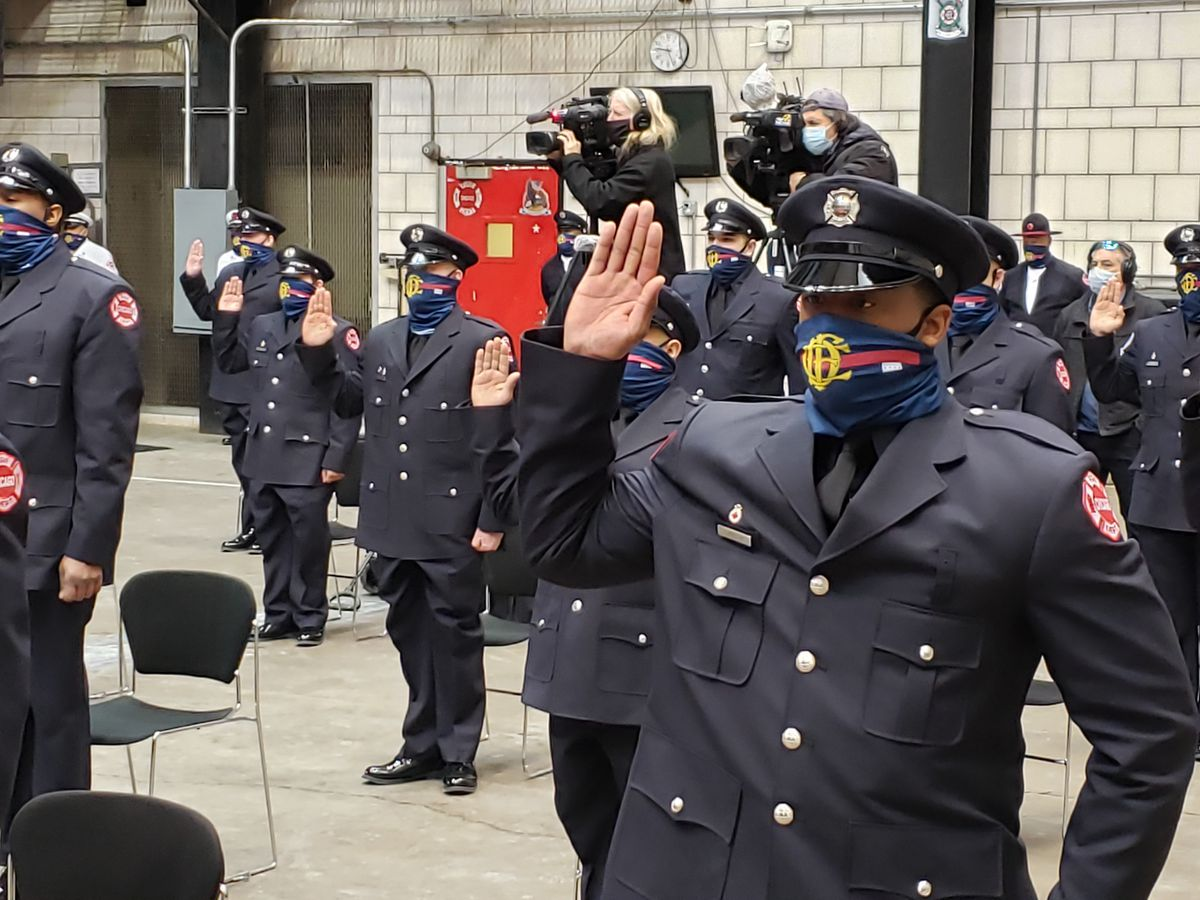 The Chicago Fire Department welcomed another graduating class on Tuesday, Feb. 16, 2021. This latest group of 125 includes 27 members of the military, and 24 graduates of Chicago Public Schools.