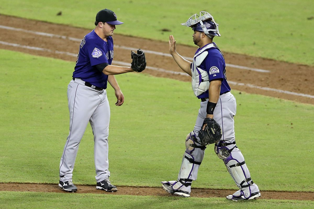 The Rockies shook hands after a game at Chase Field last night for just the second time in eight tries.