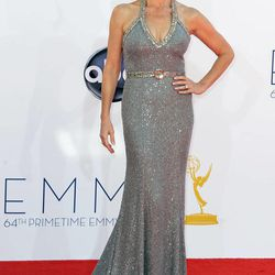 Actress Connie Britton arrives at the 64th Primetime Emmy Awards at the Nokia Theatre on Sunday, Sept. 23, 2012, in Los Angeles.