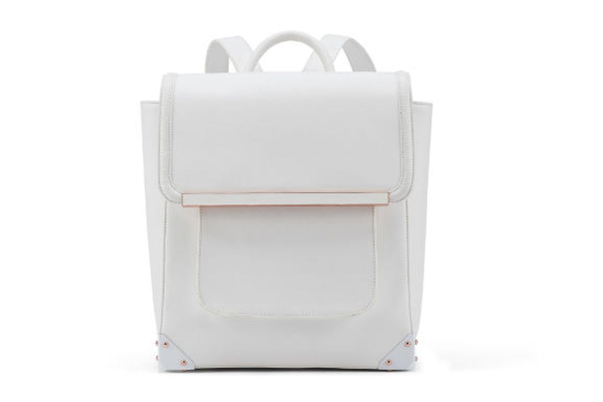 """The Bowie backpack, <a href=""""http://www.aldoshoes.com/us/handbags/backpacks/product/31000839-bowie/70&amp;flagid=s14aldorisehb"""">$85</a>"""