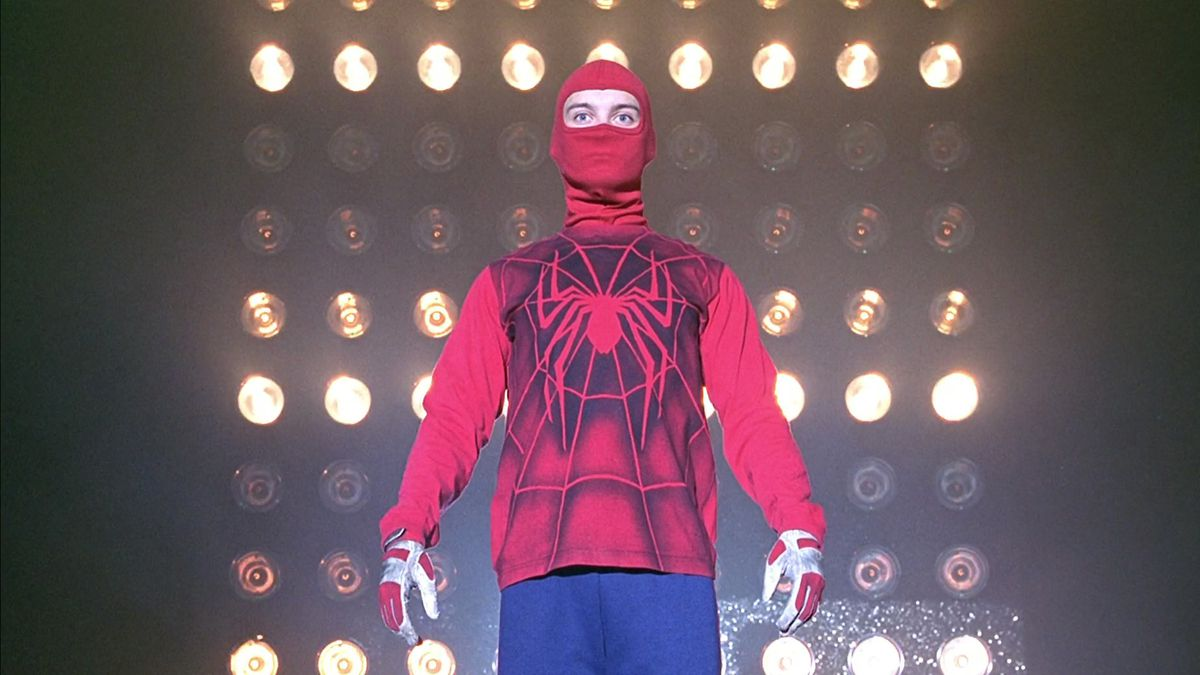 Tobey Maguire as Spider-Man in Spider-Man (2002)
