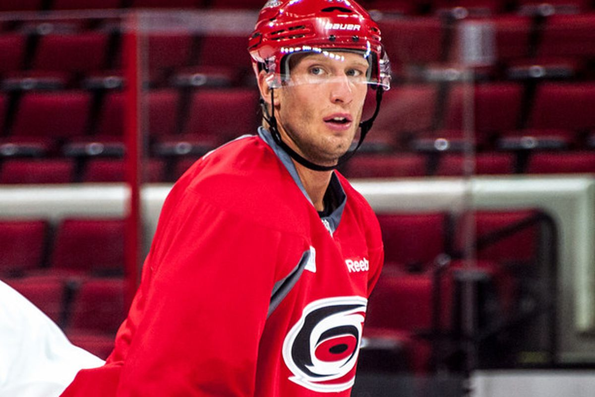 Jordan Staal suffered a broken right leg in Tuesday's 2-0 preseason loss to Buffalo, an injury that will likely sideline the Carolina alternate captain for months.
