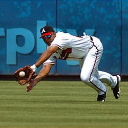 Atlanta's Andruw Jones has always been a great fielder, but this season his offense is just as impressive.