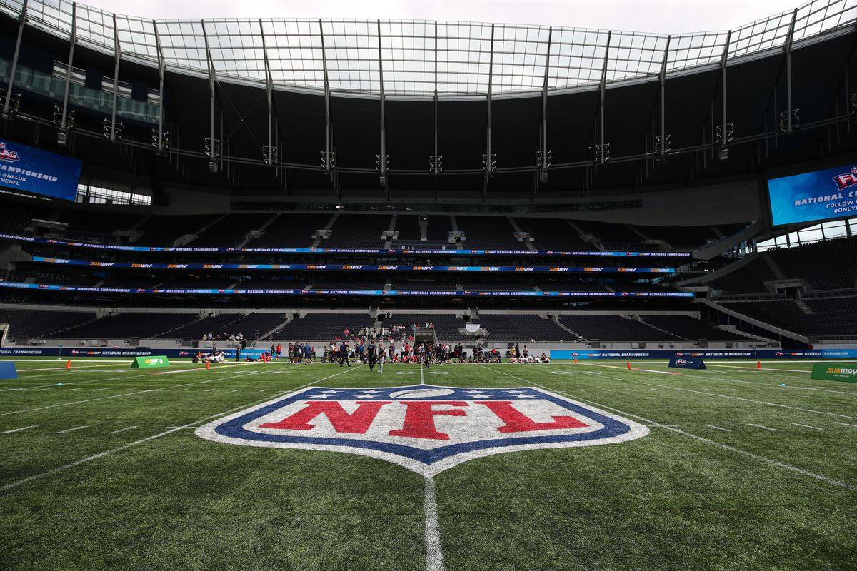 General view of the Tottenham Stadium during the NFL Flag Championships, London.
