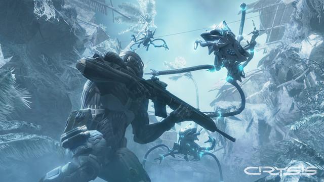A scene from the original <em>Crysis</em>.