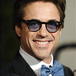 Robert Downey Jr. arrives at the Vanity Fair Oscar party on Sunday.