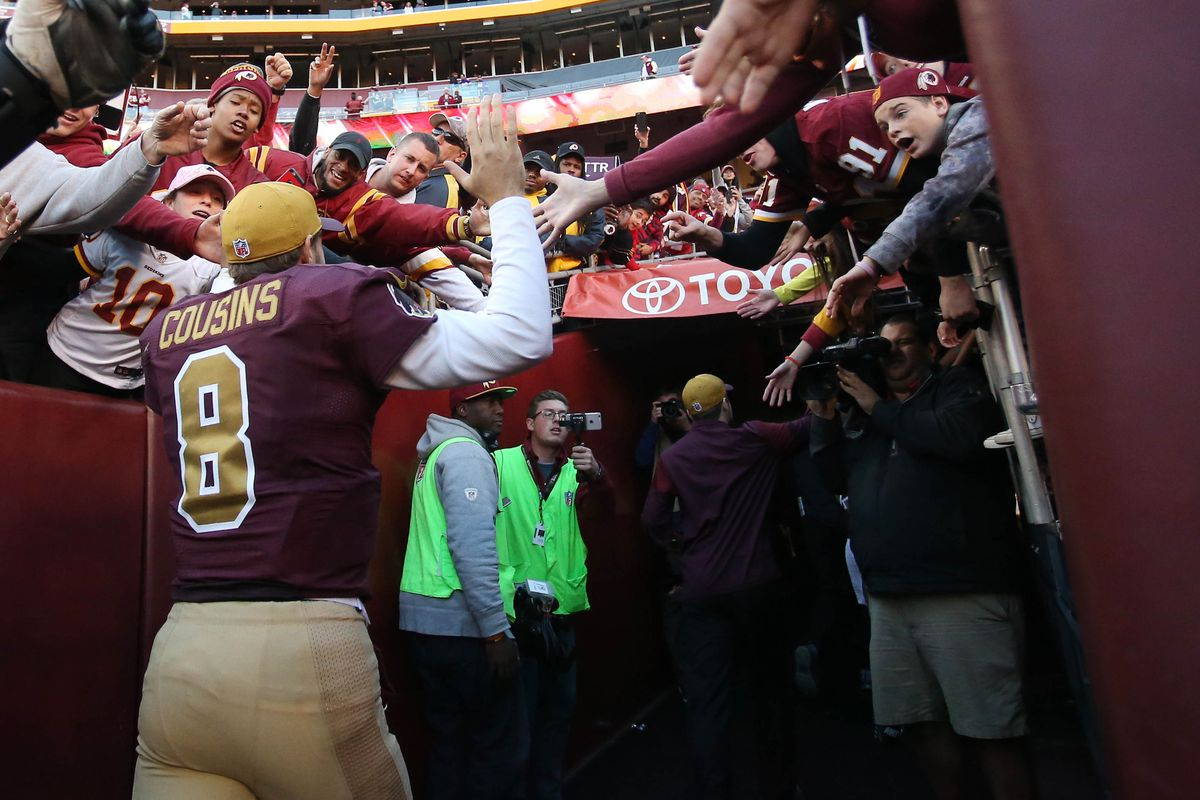 hot sale online e5db6 c28de Kirk Cousins says goodbye to the Washington Redskins and the ...