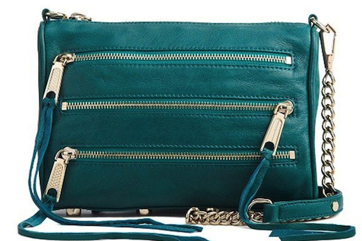 "<a href=""http://rebeccaminkoff.com/shop/fall-2012/mini-5-zip-teal.html"">Rebecca Minkoff Mini 5-Zip</a>"