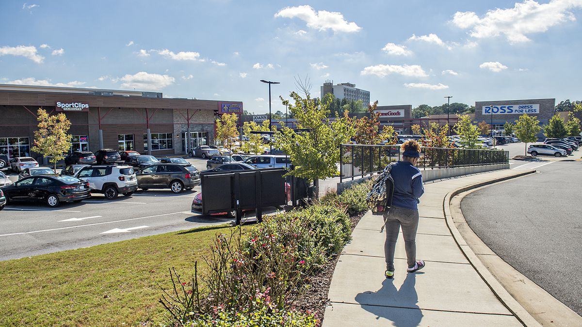 Inside Suburban Plaza is a Ross, HomeGoods, Jo-Ann's along with a slew of smaller shops.