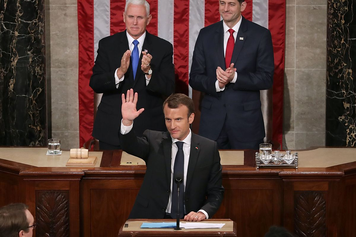 France S President Emmanuel Macron S Speech To Congress Rebuked Trump Vox