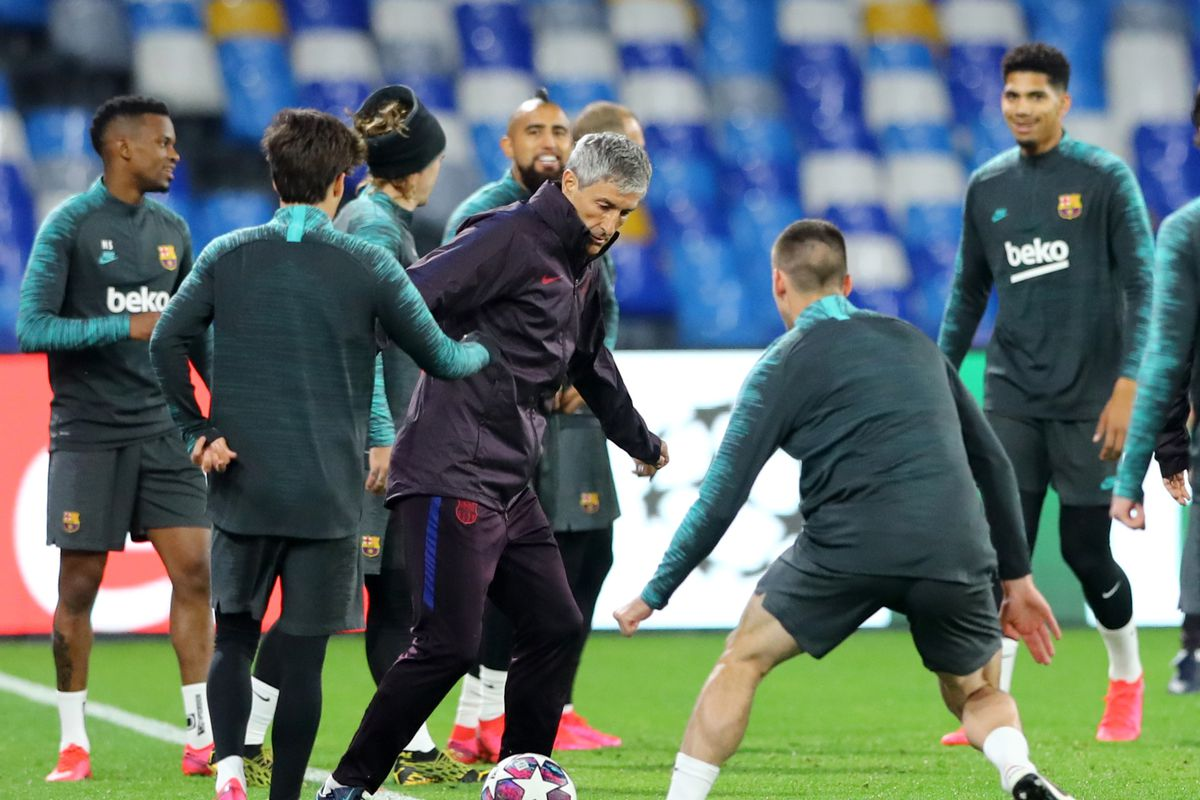 Fc Barcelona press conference and training - Champions League