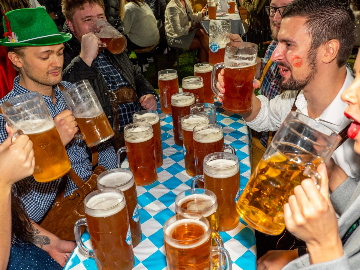 Contrasting Millwall And Pink Oktoberfest Festivals Celebrated