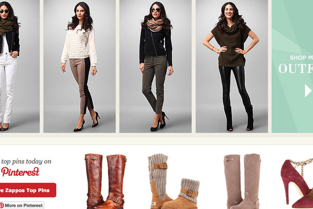"""The integration as seen on <a href=""""http://www.zappos.com/womens"""">Zappos.com</a>"""
