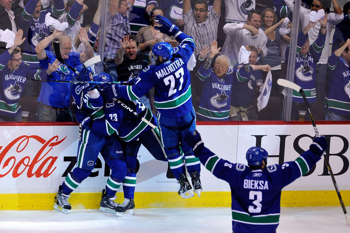 The Canucks celebrated a total of 316 goals in 82 regular season and 25 playoff games in 2010-11.