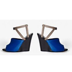 """Juliette Wedge Sandal in Electric Blue, $297 (on sale from $495) at <a href=""""http://www.31philliplim.com/shop/category/womens_accessories/shoes#juliette-wedge-sandal"""">3.1 Phillip Lim</a>"""