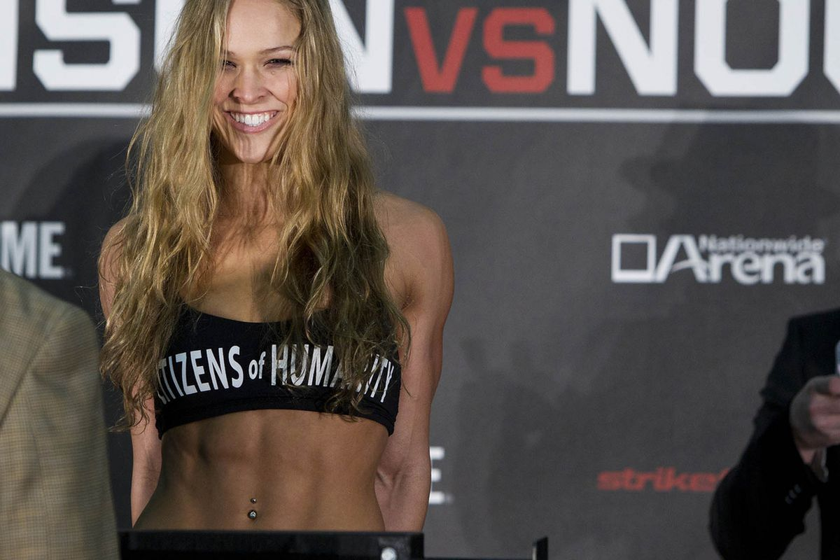 """Photo of Ronda Rousey by Esther Lin for <a href=""""http://sports.sho.com/#/mma/photos/7375"""" target=""""new"""">Sho Sports</a>."""