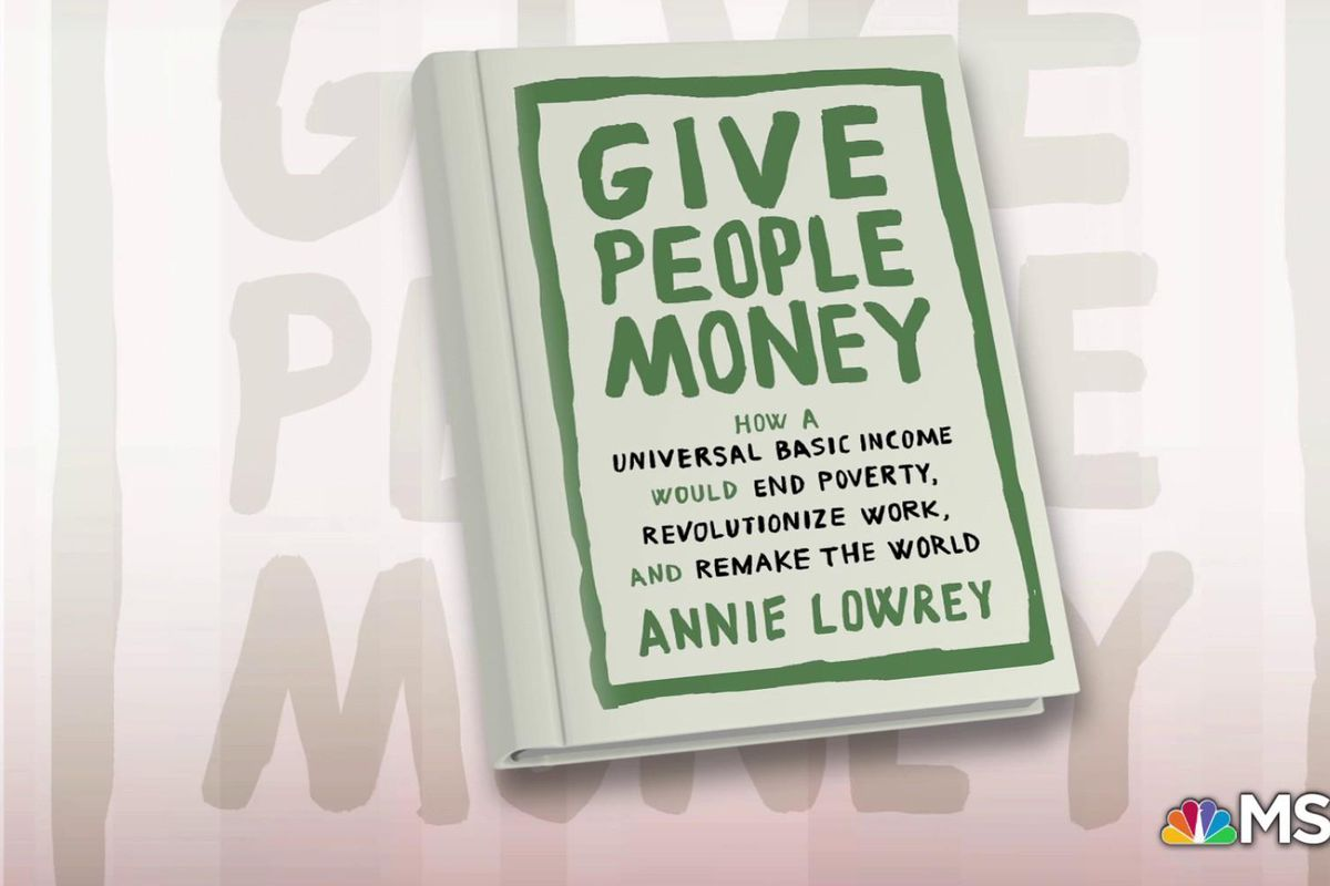 """The cover of the book """"Give People Money"""""""